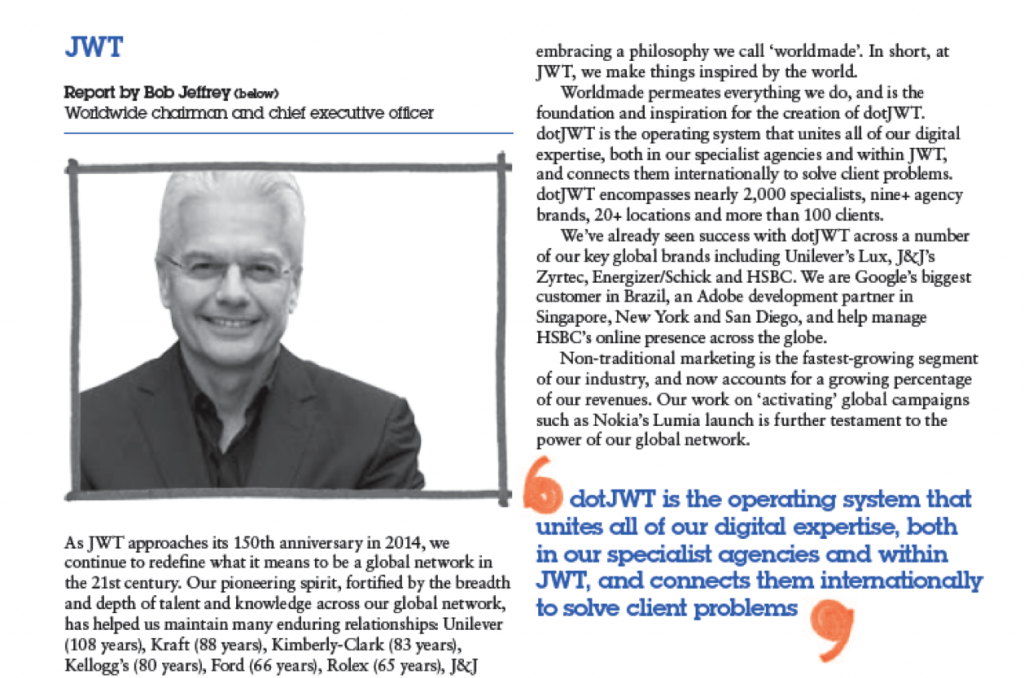 dotJWT in WPP Annual Report 2011